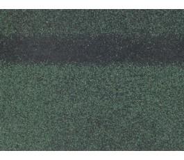 ТЕХНОНИКОЛЬ Гибкая черепица, коньково-карнизная, зеленый 1уп= 3м2 = 12л.