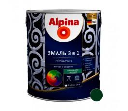 Эмаль Alpina универсальная глянцевая, цветная, 0,75 л / 0,88 кг