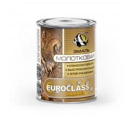 Эмаль (серебристая) декоративная EUROCLASS с молотковым эффектом 0,8кг