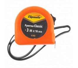 31302 Рулетка Classic, 3мх16мм, пластиковый корпус//Sparta