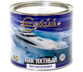 """Лак алкидно-уретановый """"EUROCLASS"""" яхтный 1,8кг"""